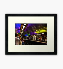 Metro color Framed Print
