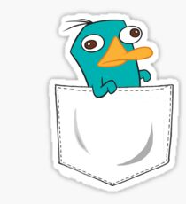 Perry the Platypus Pocket Sticker