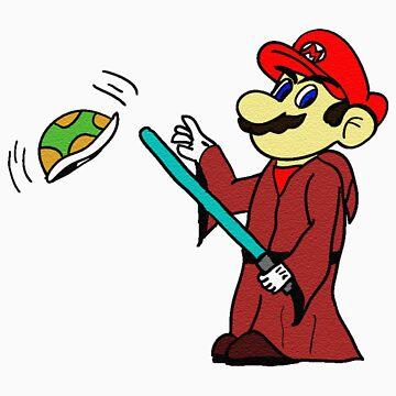 Jedi Mario by toastedmoose