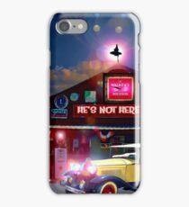 He's Not Here Bar iPhone Case/Skin
