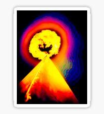 Phoenix Flame Rainbow Sticker
