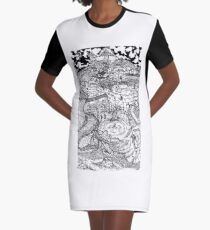"""Memories of a Lost Land"" - DS Graphic T-Shirt Dress"