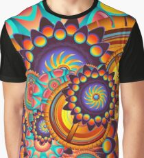 Colorful Trippy Funky Abstract Jazz Pattern Graphic T-Shirt