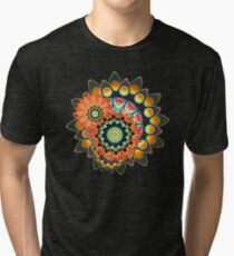 Happy Colorful Psychedelic Cool Funky Pattern Tri-blend T-Shirt