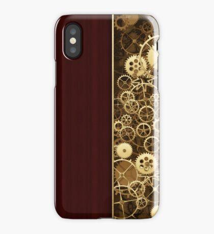 Steampunk Gears half wood iPhone Case/Skin