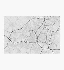 Lille, France Map. (Black on white) Photographic Print