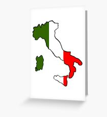 Map of Italy Greeting Card