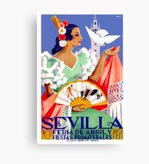 1952 Seville Spain April Fair Poster Canvas Print