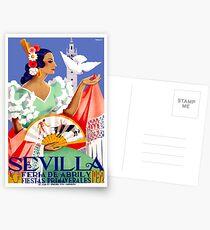 Postales 1952 Sevilla España Feria de Abril Póster