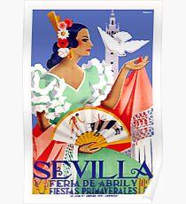 1952 Sevilla Spanien April Fair Poster Poster