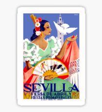 1952 Seville Spain April Fair Poster Sticker