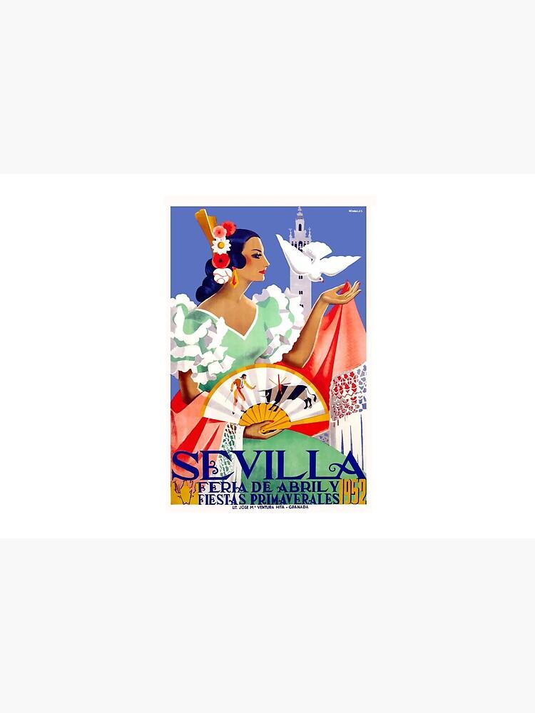 1952 Sevilla Spanien April Fair Poster von retrographics