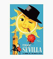 1965 Seville Spain April Fair Poster Photographic Print