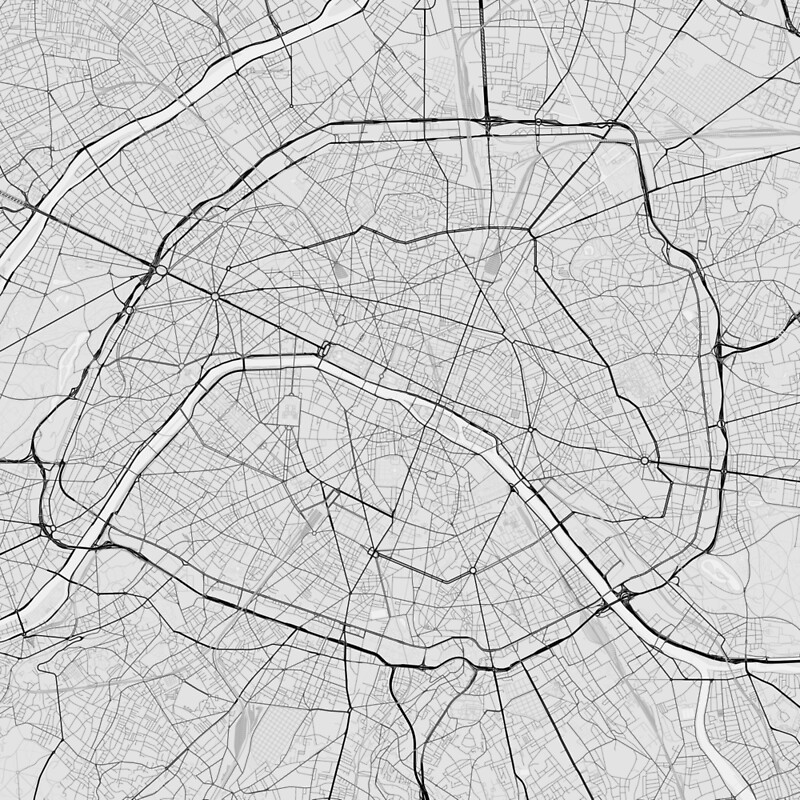Paris France Map Black On White\ Photographic Prints By: Paris Map Black And White At Infoasik.co