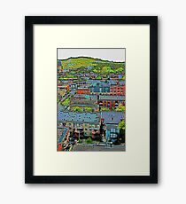 Montreal Suburb (vertical) Framed Print