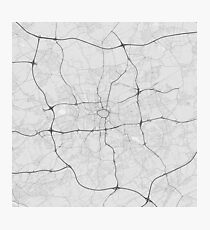 Dortmund, Germany Map. (Black on white) Photographic Print