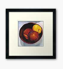 Stoned Fruit in Acrylic Framed Print