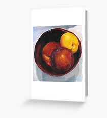 Stoned Fruit in Acrylic Greeting Card