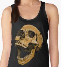 skull tea coloured Women's Tank Top