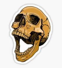 skull tea coloured Sticker