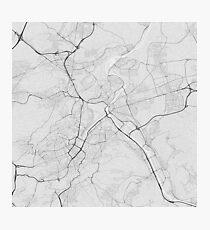 Stuttgart, Germany Map. (Black on white) Photographic Print