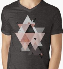 Geometric Compilation in Rose Gold and Blush Pink T-Shirt