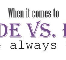 Goode vs. Evil (Purple) Sticker