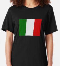 Italian Flag Slim Fit T-Shirt