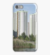 modern buildings over the water iPhone Case/Skin