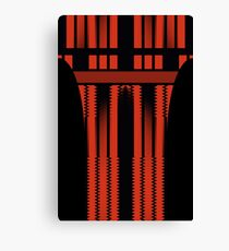 Red Lines Of Glamour  Canvas Print