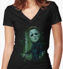 """""""Michael Stalking"""" Women's Fitted V-Neck T-Shirt"""