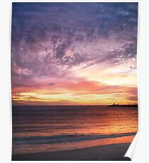 Sunset at Bathers' Beach, Fremantle, W.A. Poster