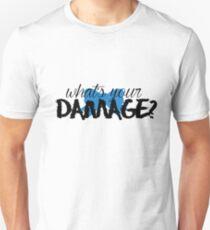 What's Your Damage? (Blue Bow) Unisex T-Shirt