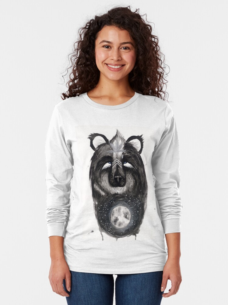 Alternate view of Selene the Moon Bear. Long Sleeve T-Shirt