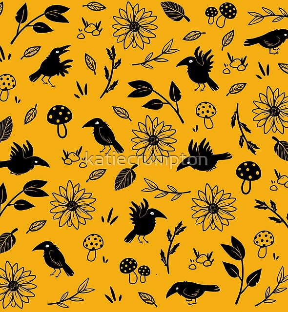 Crows and Foliage by katiecrumpton