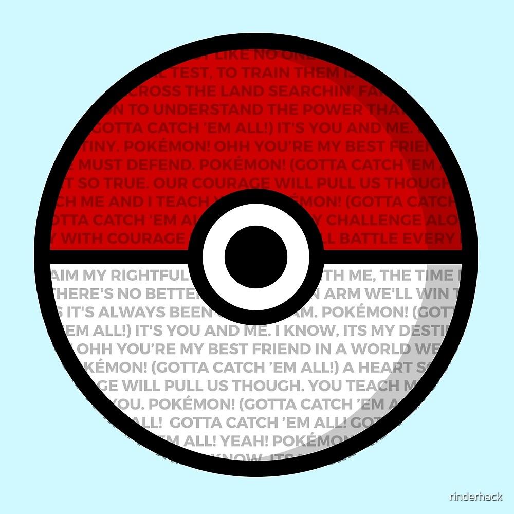 Pokéball with Pokémon Theme Lyrics by rinderhack