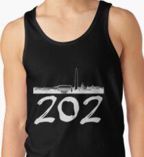 Washington D.C. - 202 (White Logo) Tank Top