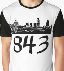 Charleston - 843 (Black Logo) Graphic T-Shirt