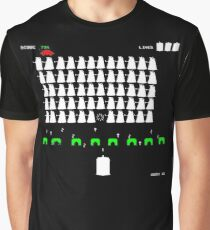 Dr Who Space Invaders Graphic T-Shirt