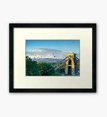 Adrift Over Bristol Framed Print