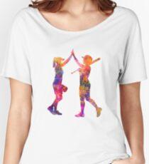 women playing softball 01 Women's Relaxed Fit T-Shirt