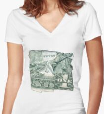Trust No One Women's Fitted V-Neck T-Shirt