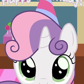 Sweetie Belle Birthday Card - Postcard My Little Pony by FalakTheWolf