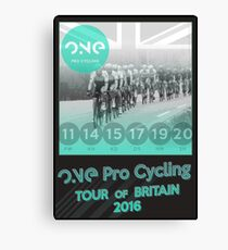 ONE Pro Cycling Tour of Britain Poster Canvas Print