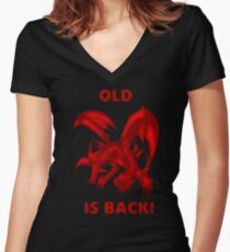 Old Red-Eyes B. Dragon Is Back! Women's Fitted V-Neck T-Shirt