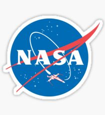 Nasa X Wing Fighter Sticker