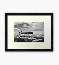 617 Squadron Tallboy Lancasters black and white version Framed Print