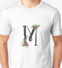 Monogram M with Floral Wreath T-Shirt