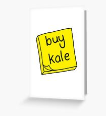 Buy Kale Greeting Card