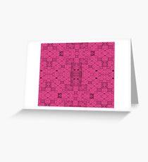Pink Squares Greeting Card